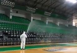 Darüşşafaka Ayhan Şahenk Spor Salonu dezenfekte edildi