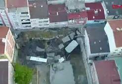 Son dakika haberi: Esenlerde korkutan göçük Binalar boşaltıldı, sokak kapatıldı...