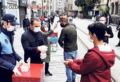 'Maske' zorunluluğu İstiklal'i rahatlattı