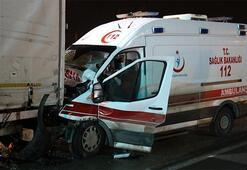 Elazığ'da hasta nakli yapan ambulans kaza yaptı: 1 ölü 3 yaralı