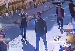 İstanbulda maskeli şahıslar iki işletmeciyi sokak ortasında böyle dövdü