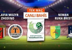 Belarus Liginde 8. hafta Canlı Bahis ve Tek Maç seçenekleriyle Misli.com'da