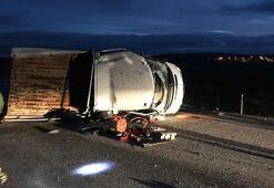 Yozgatta kamyonet devrildi: 1 ölü, 3 yaralı