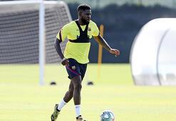 Barcelonada Umtiti ilk antrenmanında sakatlandı