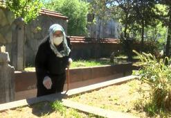 Sokağa çıkma kararına en çok sevinenlerden oldu; annesinin mezarını ziyaret etti