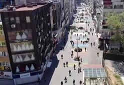 65 yaş üstü vatandaşlar drone ile havadan görüntülendi