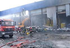 Narenciye fabrikasında korkutan yangın