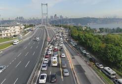 Kısıtlama sona erdi, 15 Temmuz Şehitler Köprüsünde yoğunluk yaşandı