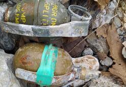 PKKya ağır darbe Patlayıcı ve el bombaları ele geçirildi