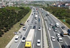 Başakşehir TEM Otoyolunda makas kazası