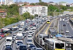 İstanbulda  trafik yoğunluğu yüzde 35 olarak görüldü