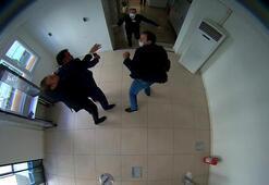 Yumruklu saldırı kamerada