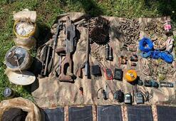 Batmanda PKKlılara ait 2 sığınak imha edildi