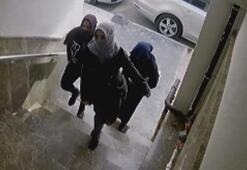 Evden hırsızlık yapan kadınlar böyle görüntülendi