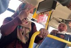 Otobüs şoförü yaşlı çifti otobüsten indirmek için dil döktü