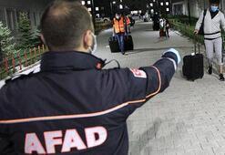 Erzurumda karantina süresi dolan 264 kişi evlerine uğurlandı