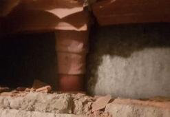 Kolu asansör ve duvar arasına sıkışan çocuk duvar kırılarak kurtarıldı