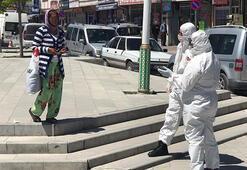 Öksürerek meydanda dolaştı, esnaf hemen sağlık ekiplerini aradı Koronavirüs şüphesi...