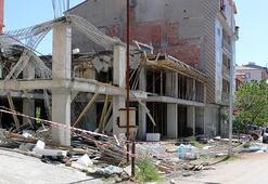 Afyonkarahisarda, bina inşaatında çökme: 2 işçi yaralı