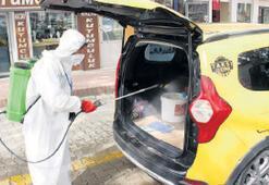 Taksi duraklarında  dip bucak temizlik
