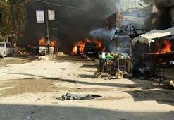 Afrin'de park halindeki araca bombalı saldırı