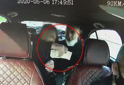 200 bin lira çalan yankesiciler takside kameraya yakalandı