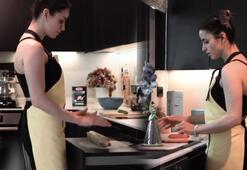Büşra Pekinden eğlenceli mutfak videosu