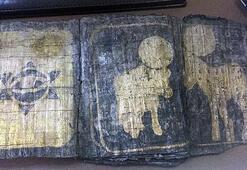 Düzce'de Davut Yıldızı olan kitap ele geçirildi