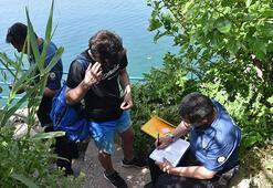 Yasağa rağmen denize girmek isteyen 5 kişiye ceza
