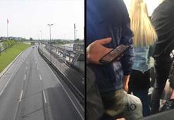 İstanbulda yollar ve meydanlar boş kaldı, balık istifi dolmuş yolculuğu şaşırttı