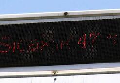Muğla kavruluyor Termometreler 47 dereceyi gösterdi
