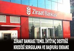 Ziraat Bankası 10 bin TL kredi başvurusu sorgulama Ziraat Bankası temel ihtiyaç desteği kredi başvurusu nasıl yapılır