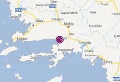 Son dakika haberi I Muğlada 3.8 büyüklüğünde deprem