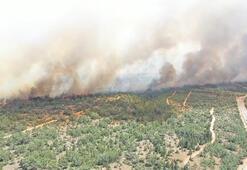 KKTCde korkutan yangın Alevler yayılıyor