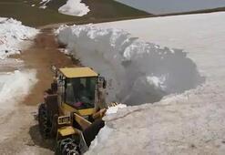 Trabzonda kardan kapalı yayla yolları açılıyor