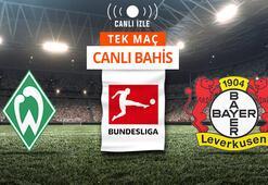 Werder Bremen-Bayer Leverkusen maçı Canlı Bahis ve Tek Maç seçenekleriyle Misli.com'da