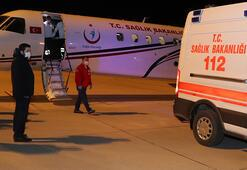 Ambulans uçak,17 günlük Kübra bebek için havalandı