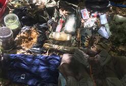 Diyarbakırda teröristlerin kullandığı 2 sığınak imha edildi