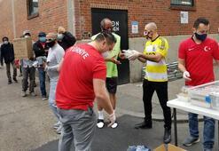 Washingtondaki Fenerbahçelilerden evsizlere yardım