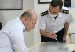 Son dakika İçişleri Bakanı Soylu, Jandarma Harekat Merkezinde brifing aldı