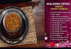 Erişteli nohut çorbası nasıl yapılır Erişteli nohut çorbası tarifi ve malzemeleri nedir