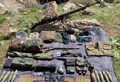 Başkalede PKKya ait silah ve mühimmat ele geçirildi