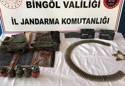 Bingölde, PKKnın toprağa gömülü el bombaları bulundu