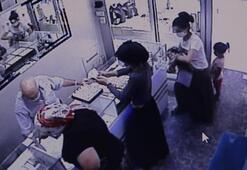 Çocukla geldikleri kuyumcuda altın yüzük çalan 3 kadın yakalandı