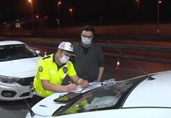 Polis yasağa uymayan sürücülere ceza yazdı