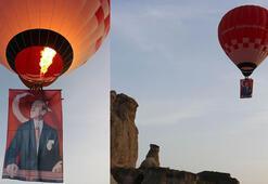 Türkiyenin ilk yerli ve milli balonundan 19 Mayısa özel uçuş