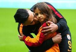 Falcao bu kez de kızıyla antrenman yaptı