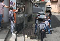 Fatihte market önünde maske gerginliği