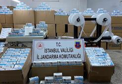 Son dakika: İstanbulda 800 bin maske ele geçirildi