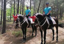 Belgrad Ormanında atlı birliklerle denetim